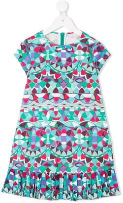 Emilio Pucci Junior geometric print dress