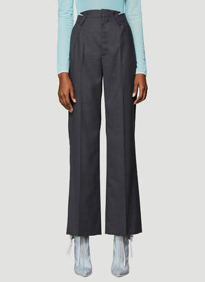 Maison Margiela Flannel Suiting Pants in Grey