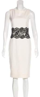 Valentino Lace-Accented Sleeveless Dress