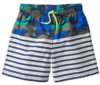Mini Boden Bathers Mixed Print Swim Trunks