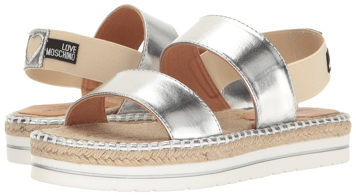 LOVE Moschino - Metallic Sandal Espadrille Women's Shoes