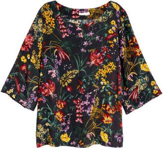 H&M Short-sleeved Blouse - Gray