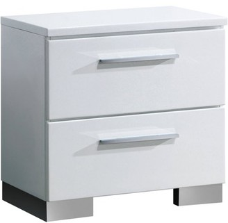 Furniture of America Acrysta Contemporary Nightstand, White