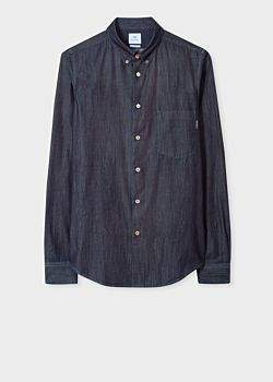 Paul Smith Men's Tailored-Fit Indigo Denim Shirt
