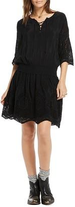 Scotch & Soda Eyelet Peasant Dress $198 thestylecure.com