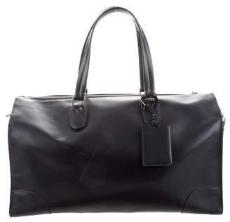 Valextra Leather Weekender Bag