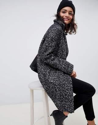 Asos Design DESIGN cocoon coat in texture