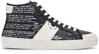 Moa Master Of Arts printed hi-top sneakers