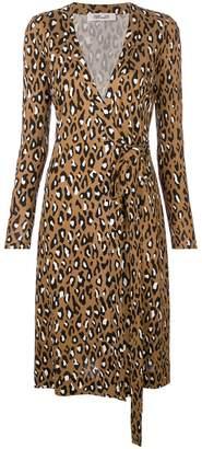 Diane von Furstenberg leopard wrap dress