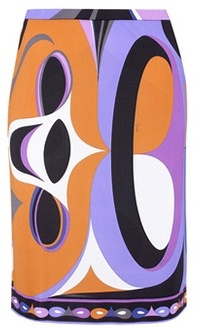 Emilio Pucci Printed silk-blend jersey skirt