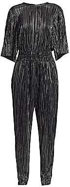 IRO Women's Chimbote Metallic Pleated Popover Jumpsuit