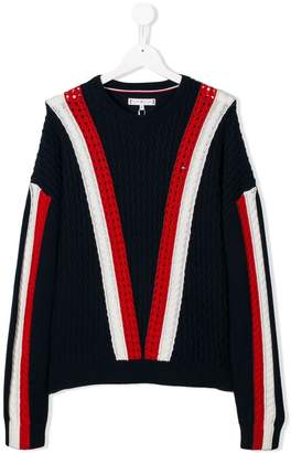 Tommy Hilfiger Junior TEEN striped jumper