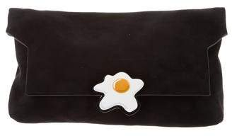 Anya Hindmarch Bathurst Suede Clutch