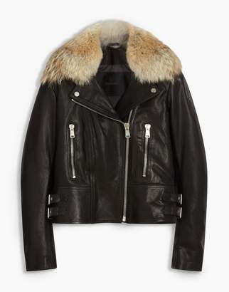 Belstaff Marvingt 2.0 Biker Jacket With Fur Black