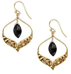 Chan Luu Gold Plated Semi Precious Spinal Faceted Drop Earrings