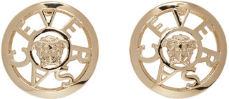 Versace Gold Small Stud Earrings $275 thestylecure.com