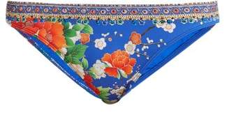 Camilla Playing Koi Print Bikini Briefs - Womens - Blue Print