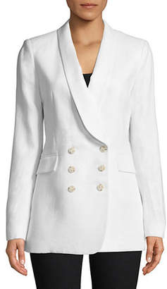 Theory Shawl Collar Linen Blazer