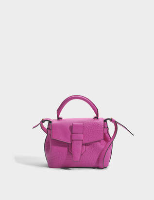 Lancel Charlie Nano Bag in Cyclamen Buffle Skin