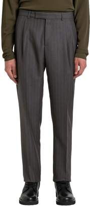 Christian Dior High-rise Pinstriped Trousers