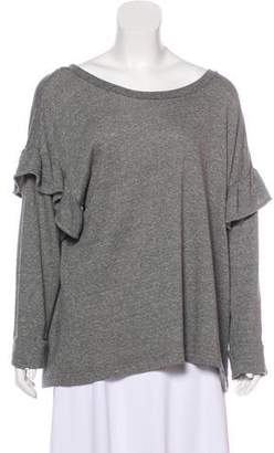 Current/Elliott Ruffle-Accented Sweatshirt