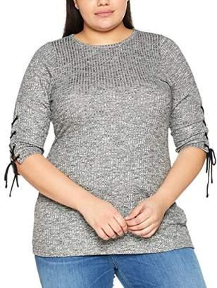 Evans Women's Tie Rib Tunic Regular Fit Plain 3/4 Sleeve Blouse,(Size: /24)