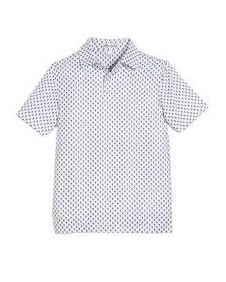 Peter Millar Stretch Jersey Scull-Print Polo Shirt, Size XS-XL