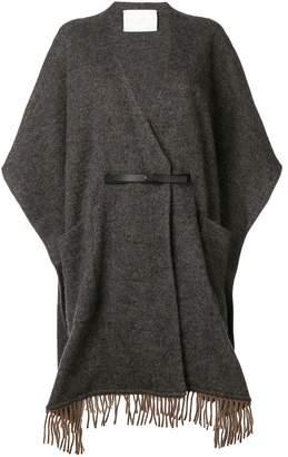 Fabiana Filippi fringed cape coat