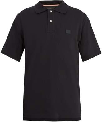 Acne Studios Newark face-patch cotton polo shirt