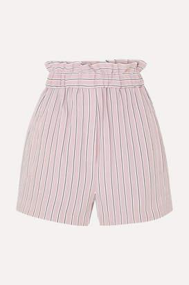 Tibi Striped Twill Shorts - Blush