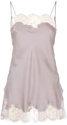 Carine Gilson Silk Lace Cami Top