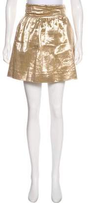 Elizabeth and James Linen Metallic Skirt