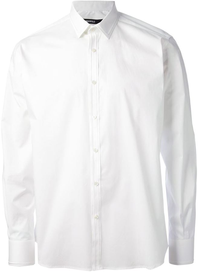 Karl Lagerfeld Lagerfeld piped detail shirt