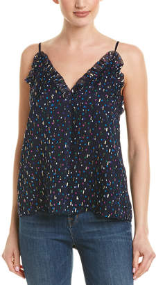 Rebecca Taylor Speckled Dot Silk-Blend Cami