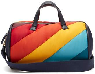 Anya Hindmarch Chubby Barrel Quilted Stripe Travel Bag - Womens - Multi