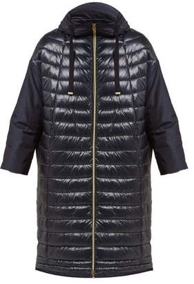 Herno Packaway Hood Glossed Padded Down Coat - Womens - Navy