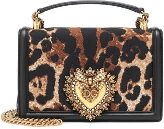 Dolce & Gabbana Devotion leopard shoulder bag
