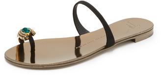 Giuseppe Zanotti Embellished Toe Sandals $650 thestylecure.com