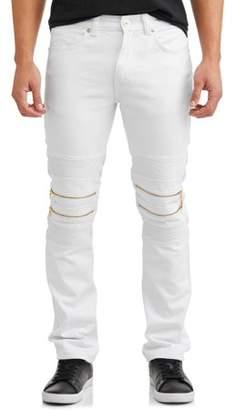 Rocawear Men's Double Zip Moto Tapered Pants with Zipper Design