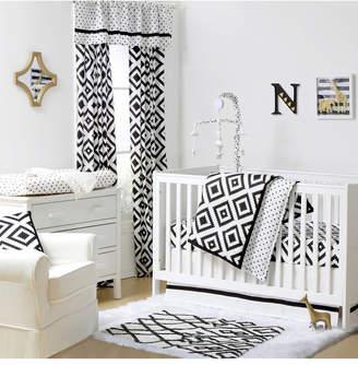 The Peanut Shell The Deco Diamond 3-Piece Crib Bedding Set Bedding