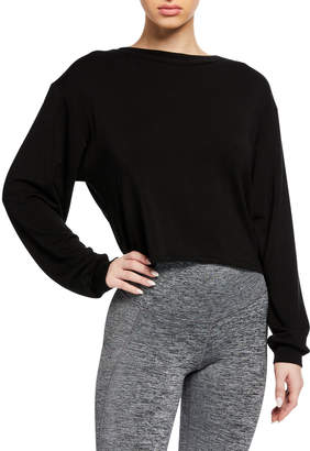 Michi Breeze Cropped Open-Back Sweatshirt