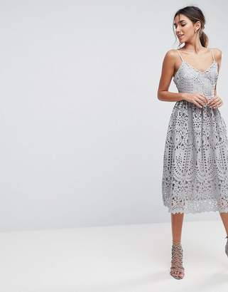 ASOS Heavy Lace Cami Midi Prom Dress $119 thestylecure.com