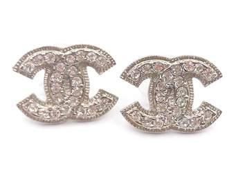 Chanel Silver Metal Earrings