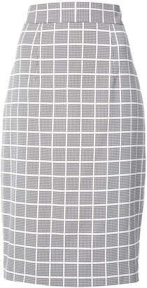 Milly cross print pencil skirt