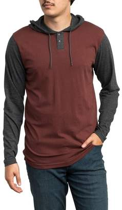 RVCA Pick Up Hooded Henley Sweatshirt