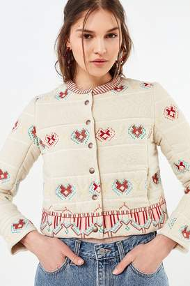 Urban Outfitters Embroidered Bolero Jacket