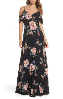 Jenny Yoo Mila Cold Shoulder Gown