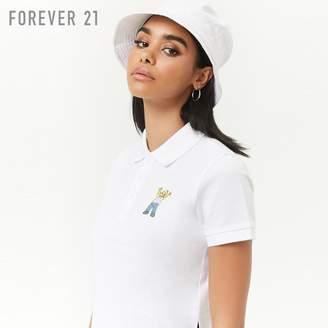 Forever 21 (フォーエバー 21) - Forever 21 The Simpsonsセミクロップドポロシャツ