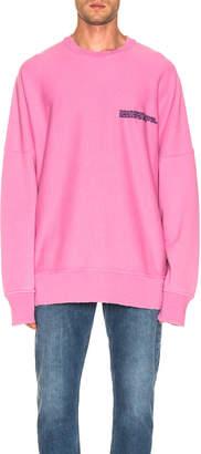 Calvin Klein Logo Sweatshirt in Dark Anemone | FWRD