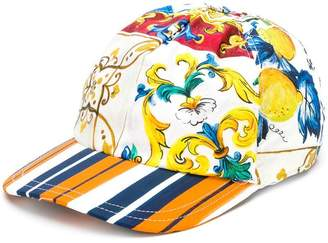Dolce & Gabbana Majolica print baseball cap